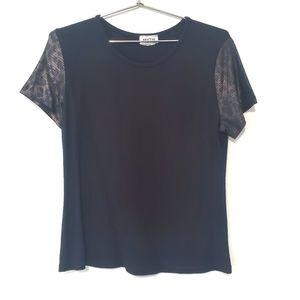 2for$30!! Modal leopard print  t-shirt, size L